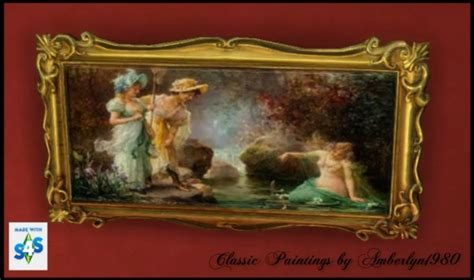 """Amberlyn Designs Sims: """" Classic Paintings Collection"""