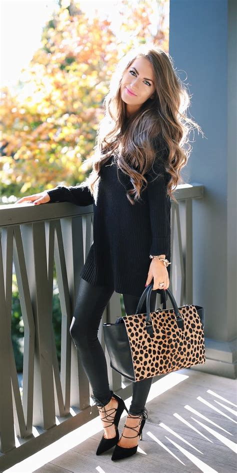 12 Ways How To Style Faux Leather Leggings - All For