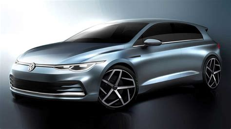 2020 VW Golf officially previewed inside and out
