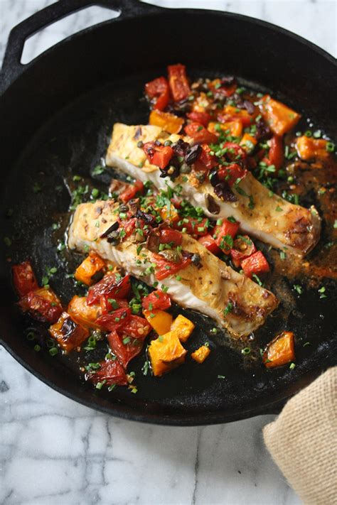 Fish with tomatoes and olives   Healthy recipes   SBS Food
